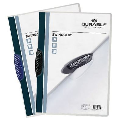 Durable Swingclip A4 Black Clip Folder Pack of 25 2260/01 [DB226001]