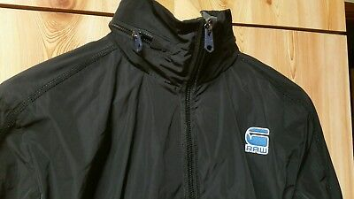 'G- Star Raw' Hooded Jacket Fully lined Size M ( suit ladies 8 - 12 ) Black