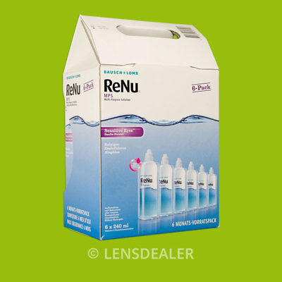 »» RENU MPS SENSITIVE EYES BIG PACK - 6x 240ml  BAUSCH + LOMB ««