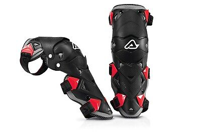 Acerbis Impact Evo 3.0 Enduro mx Motocross Hinged Knee Guards Pads Black Red
