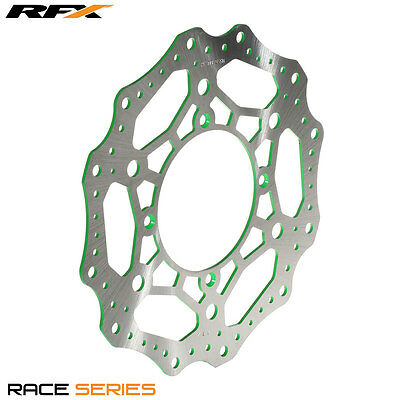 Rfx Race Mx Front Brake Disc Green To Fit Kawasaki Kx125/250 03-05 Models