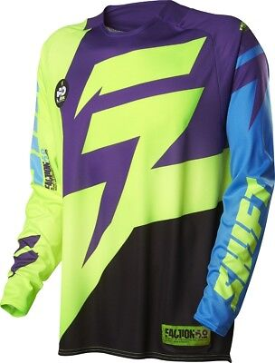 Shift NEW Mx Gear 2016 Faction Dirt Bike Adult Purple Yellow Motocross Jersey
