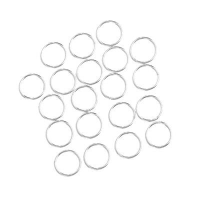 20pcs 925 Sterling Silver Closed Jump Rings Jewelry Making Findings for Crafts