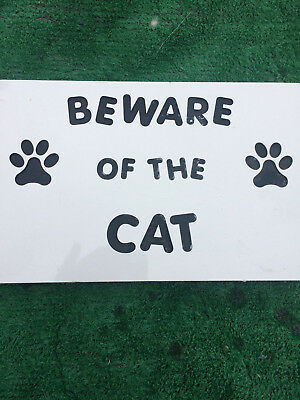 Fibreglass Case And Mould/ Wall Plaque Mould/ Beware Of The Cat