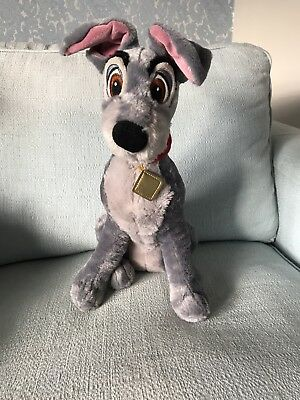 "Disney Tramp Plush Toy, Disney Store 15"" Teddy, Lady And The Tramp"