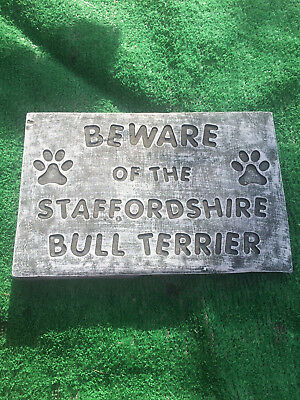 Fibreglass Case & Mould/ Wall Plaque Mould/ Beware Of The Staffordshire Bull