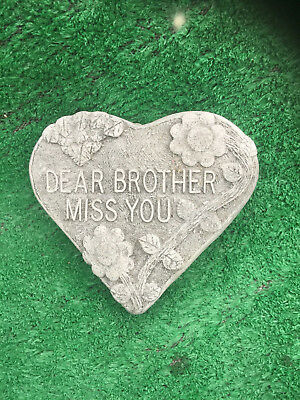Fibreglass Case & Mould/ Memorial Heart/ Dear Brother Miss You