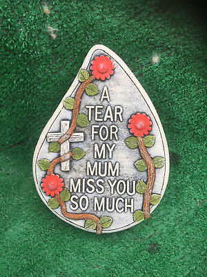 Fibreglass Case & Mould/ Memorial Heart/ A Tear For My Mum Miss You So Much