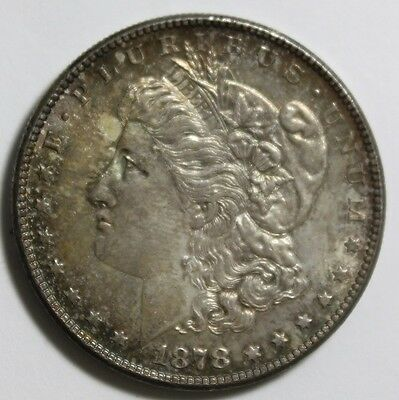 1878-S, Morgan 90% Silver Dollar, High Uncirculated Condition, Toning Started