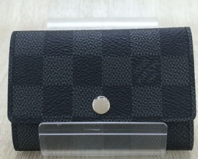 b3cbb53401aa LOUIS VUITTON Damier Graphite Multicles 6 Ring Key Case N62662 Auth F S  JAPAN