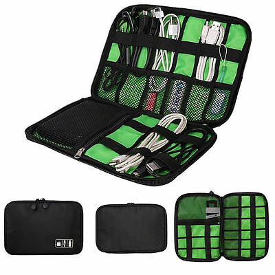 Electronic Accessories Cable USB Drive Organizer Bag Travel Insert Case Portable