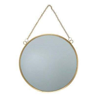 Touch of Gold Round Mirror