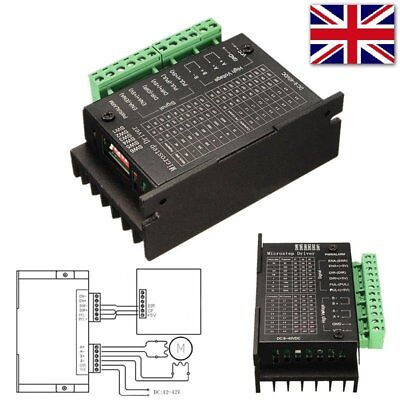UK CNC Single Axis 4A TB6600 2/4 Phase Hybrid Stepper Motor Drivers Controller