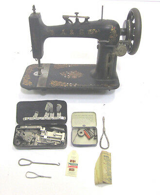 Vintage Antique RARE Allen & Sellers Treadle Sewing Machine Serial 3367257