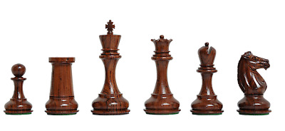 "The Challenger Series Luxury Chess Set - Pieces Only - 4.4"" King - Rosewood and"