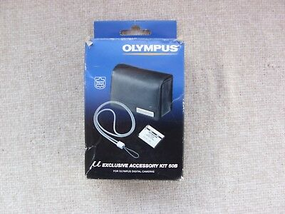 Olympus Exclusive Accessory Kit 50B leather Case Metal Strap NO BATTERY