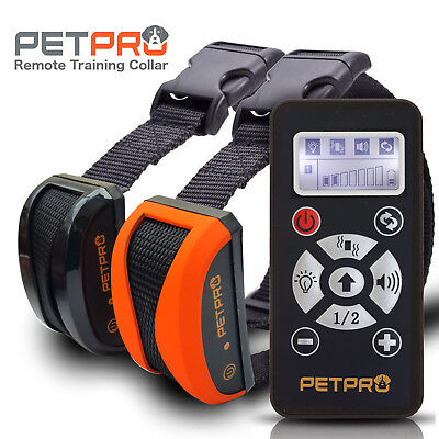 PetPro 2 Collar Remote Dog Training & Auto Bark Control 800M Range Waterproof
