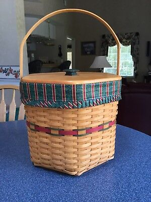 Longaberger Hostess Christmas Basket w/ 3 tier protectors, and holiday liner