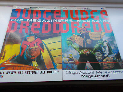 JUDGE DREDD MEGAZINE Issues One and Two Excellent Condition