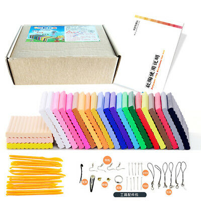Oven Bake Polymer Clay Block Modelling Moulding Sculpey Tool 500G Set 24 Colors