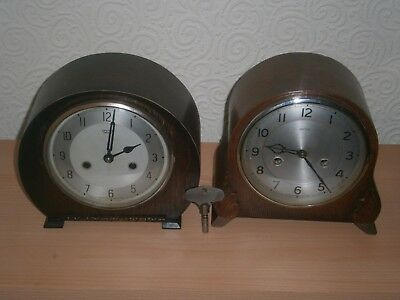 Two Smiths Mantle Clocks ( spares or repairs )