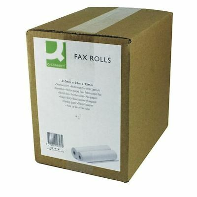 Q-Connect White 210mmx30mx25mm Fax Roll (Pack of 6) KF10707 [KF10707]