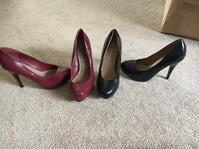 Bundle Of 2 High Heels Size 4 Black And Red New Look