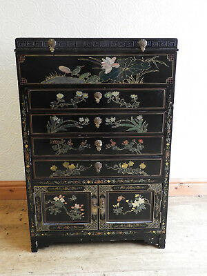 Chinese lacquer painted chest of drawers