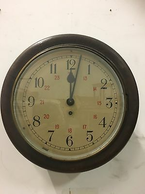 Vintage Old Dial Clock Needs Attention Shop Display Station Railway Office
