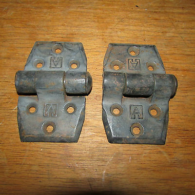 Pair of large old hinges