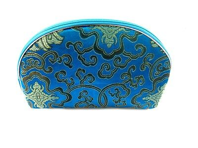 1 Set 5 Pcs Matching  Chinese  Pouch, for Cosmetic, Coin & Jewelry, Blue