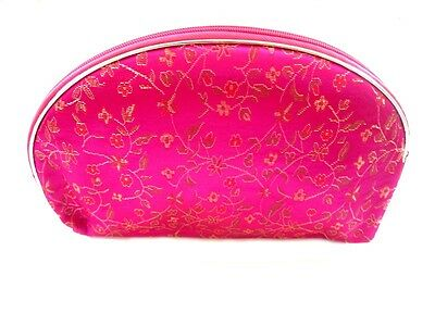 1 Set 5 Pcs Matching  Chinese  Pouch, for Cosmetic, Coin & Jewelry, Pink