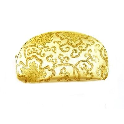 1 Set 5 Pcs Matching  Chinese  Pouch, for Cosmetic, Coin & Jewelry, Yellow