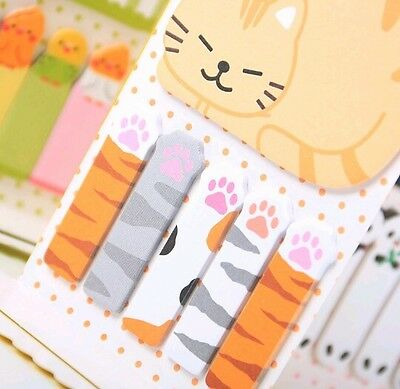 Kawaii Cute Cat Paws Memo Pad 🐱 Sticky Paper Notes Post it Stationery School 💕