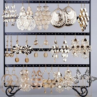 12 Pairs Wholesale Jewelry Vintage Mixed lots Gold Plated Dangle Drop Earrings