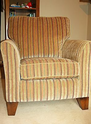 Alstons Courtney - Candy Stripe, Hardwood, Sprung Chair Excellent Condition