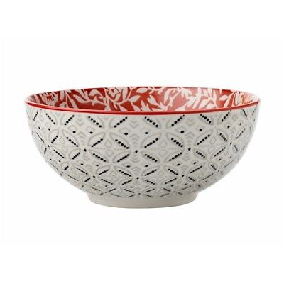 New Maxwell & Williams Boho Bowl Damask Red 18cm