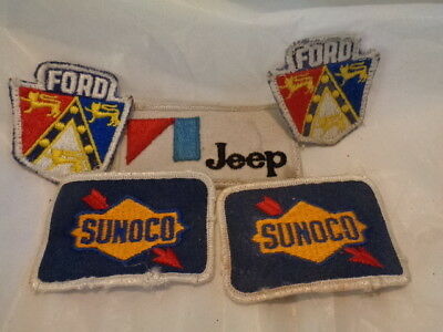 Vintage SUNOCO FORD Jeep Service Oil Station EMBROIDERED Fabric Uniform PATCHES
