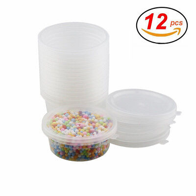 Glue Putty Foam Ball Containers for 20g Slime Storage 12 Pack with Lids