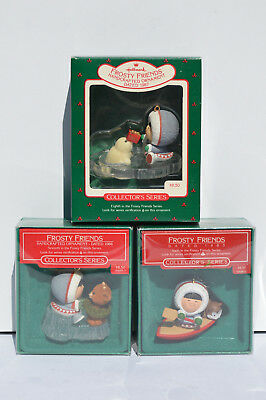 Lot of 3 Frosty Friends Hallmark Collector's Series 1985, 1986 and 1987