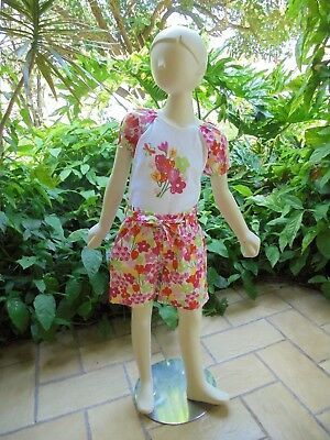 NWT GYMBOREE Girls 2 Piece Set Top Floral Shorts Of Flowers Outfit Sz 8