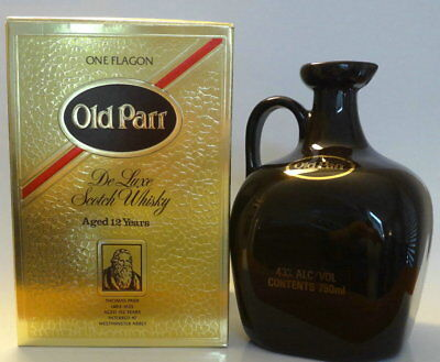 OLD PARR De Luxe Scotch Whiskey Flagon from1980s  Sealed 750ml