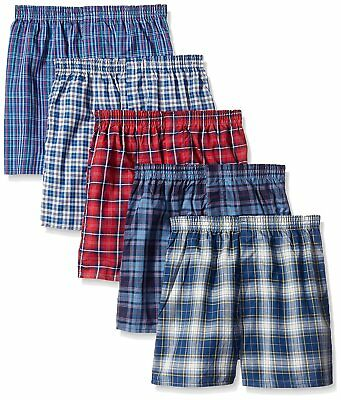 Fruit of the Loom Baby Boys Woven Boxers, 5 pack - Tartan Plaids - Medium
