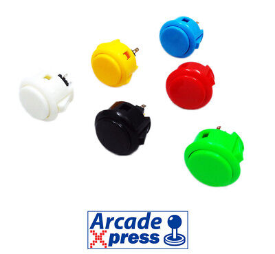 Boton Arcade Japones 30mm PushButton Japanese Sahi Seiko Recreativa Bartop