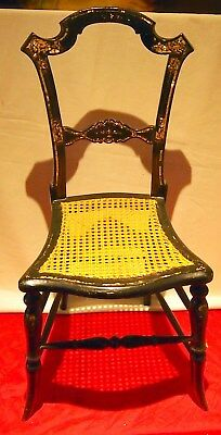 19 C Chair Petite Cane Chair Mother Of Pearls Inlaid Gorgeous Details