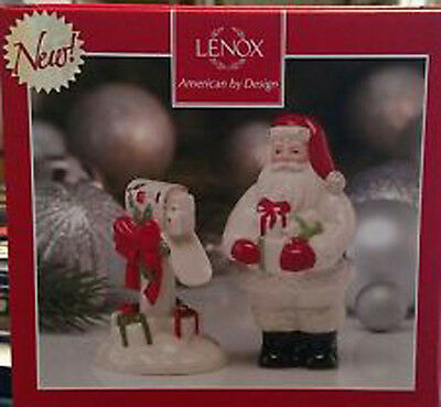 Lenox Countdown to Christmas Salt & Pepper Shakers , NEW  Ivory  HOLIDAY KITCHEN