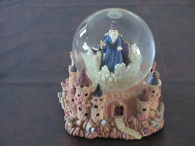 "CAMELOT Merlin WIzard Snow Musical  Snow Water Globe 7"" Tall X 6"" X 6"""
