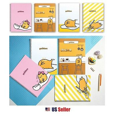 Sanrio Gudetama Lazy Egg A4 Cover College Ruled Notebook Note Pad  Set of 4 : A