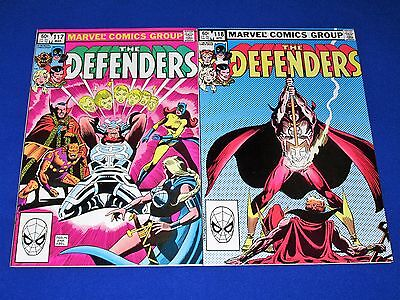 Lot of 2 DEFENDERS Issues 117 and 118 [Marvel 1983] NM- or Better!