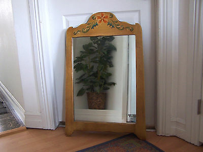 1930's CORONADO Monterey Hand Painted Wall Hanging Wood Mirror